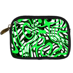 Ribbon Chaos Green Digital Camera Cases by ImpressiveMoments