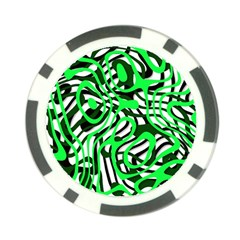 Ribbon Chaos Green Poker Chip Card Guards (10 Pack)  by ImpressiveMoments