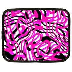 Ribbon Chaos Pink Netbook Case (xl)  by ImpressiveMoments