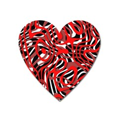 Ribbon Chaos Red Heart Magnet by ImpressiveMoments