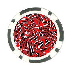 Ribbon Chaos Red Poker Chip Card Guards (10 Pack)  by ImpressiveMoments