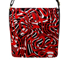 Ribbon Chaos Red Flap Messenger Bag (l)  by ImpressiveMoments