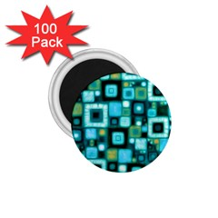 Teal Squares 1 75  Magnets (100 Pack)  by KirstenStar
