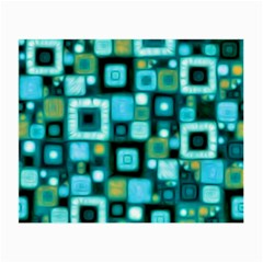Teal Squares Small Glasses Cloth (2 Side) by KirstenStar