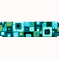 Teal Squares Large Bar Mats by KirstenStar