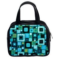 Teal Squares Classic Handbags (2 Sides) by KirstenStar