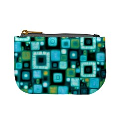 Teal Squares Mini Coin Purses by KirstenStar