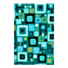 Teal Squares Shower Curtain 48  X 72  (small)  by KirstenStar