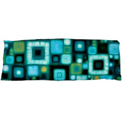 Teal Squares Body Pillow Cases Dakimakura (two Sides)  by KirstenStar