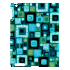 Teal Squares Apple Ipad 3/4 Hardshell Case by KirstenStar