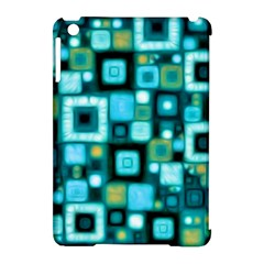 Teal Squares Apple Ipad Mini Hardshell Case (compatible With Smart Cover) by KirstenStar
