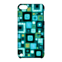 Teal Squares Apple Ipod Touch 5 Hardshell Case With Stand by KirstenStar