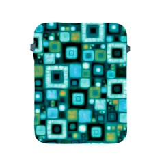Teal Squares Apple Ipad 2/3/4 Protective Soft Cases by KirstenStar