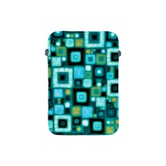 Teal Squares Apple Ipad Mini Protective Soft Cases by KirstenStar