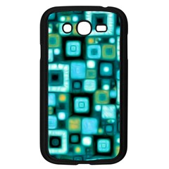 Teal Squares Samsung Galaxy Grand Duos I9082 Case (black) by KirstenStar