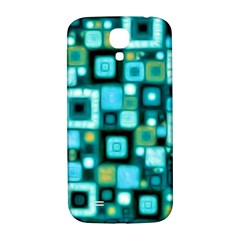 Teal Squares Samsung Galaxy S4 I9500/i9505  Hardshell Back Case by KirstenStar