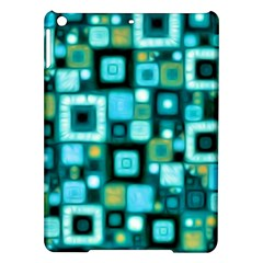 Teal Squares Ipad Air Hardshell Cases by KirstenStar