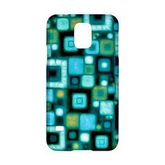 Teal Squares Samsung Galaxy S5 Hardshell Case  by KirstenStar