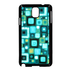 Teal Squares Samsung Galaxy Note 3 Neo Hardshell Case (black) by KirstenStar