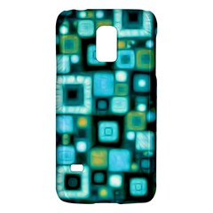 Teal Squares Galaxy S5 Mini by KirstenStar
