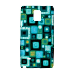 Teal Squares Samsung Galaxy Note 4 Hardshell Case by KirstenStar