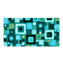 Teal Squares Satin Wrap by KirstenStar