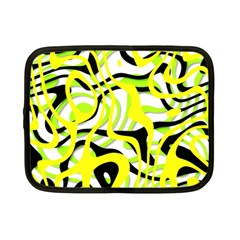 Ribbon Chaos Yellow Netbook Case (small)  by ImpressiveMoments