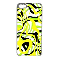 Ribbon Chaos Yellow Apple Iphone 5 Case (silver) by ImpressiveMoments