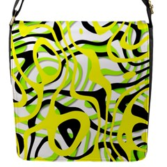 Ribbon Chaos Yellow Flap Messenger Bag (s) by ImpressiveMoments