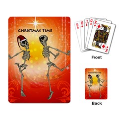 Dancing For Christmas, Funny Skeletons Playing Card by FantasyWorld7
