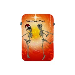 Dancing For Christmas, Funny Skeletons Apple Ipad Mini Protective Soft Cases by FantasyWorld7