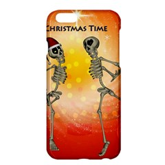 Dancing For Christmas, Funny Skeletons Apple Iphone 6 Plus/6s Plus Hardshell Case by FantasyWorld7
