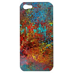 Abstract In Red, Turquoise, And Yellow Apple Iphone 5 Hardshell Case by digitaldivadesigns