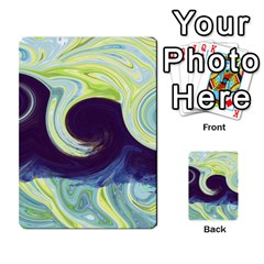 Abstract Ocean Waves Multi Purpose Cards (rectangle)  by digitaldivadesigns