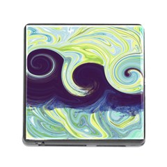 Abstract Ocean Waves Memory Card Reader (square) by digitaldivadesigns