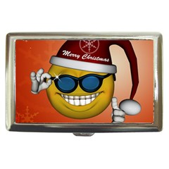 Funny Christmas Smiley With Sunglasses Cigarette Money Cases by FantasyWorld7