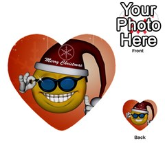 Funny Christmas Smiley With Sunglasses Multi Purpose Cards (heart)