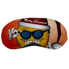 Funny Christmas Smiley With Sunglasses Sleeping Masks by FantasyWorld7