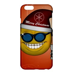 Funny Christmas Smiley With Sunglasses Apple Iphone 6 Plus/6s Plus Hardshell Case by FantasyWorld7