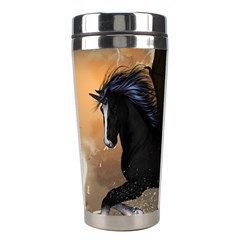Awesome Dark Unicorn With Clouds Stainless Steel Travel Tumblers