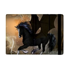 Awesome Dark Unicorn With Clouds Ipad Mini 2 Flip Cases by FantasyWorld7
