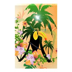 Cute Toucan With Palm And Flowers Shower Curtain 48  X 72  (small)
