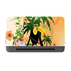 Cute Toucan With Palm And Flowers Memory Card Reader With Cf