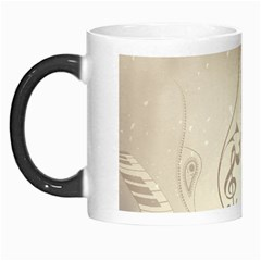 Music, Piano With Clef On Soft Background Morph Mugs by FantasyWorld7