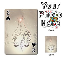 Music, Piano With Clef On Soft Background Playing Cards 54 Designs  by FantasyWorld7