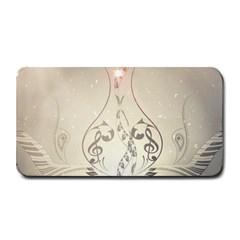 Music, Piano With Clef On Soft Background Medium Bar Mats by FantasyWorld7