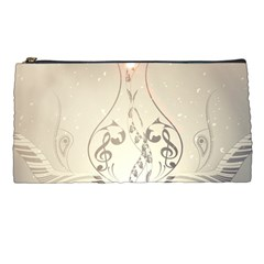 Music, Piano With Clef On Soft Background Pencil Cases