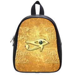 The All Seeing Eye With Eye Made Of Diamond School Bags (small)  by FantasyWorld7