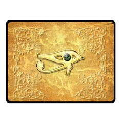 The All Seeing Eye With Eye Made Of Diamond Double Sided Fleece Blanket (small)  by FantasyWorld7