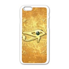 The All Seeing Eye With Eye Made Of Diamond Apple Iphone 6/6s White Enamel Case